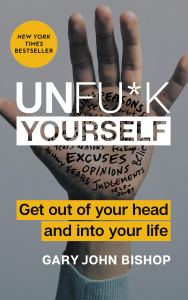 the self-help book unf*k yourself on a white background