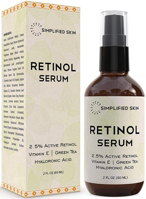 simplified skin retinol serum, best skin care products for men