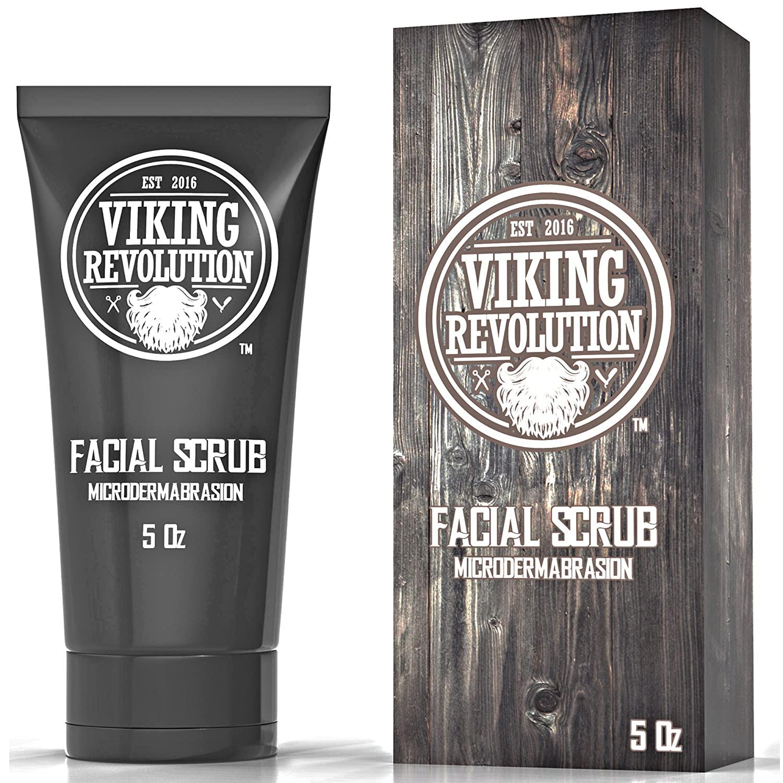 Viking revolution microdermabrasion face scrub for men facial cleanser, best skin care products for men