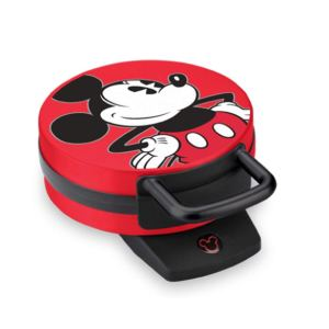 Disney Mickey Mouse Red Waffle Maker on a white background, best waffle makers