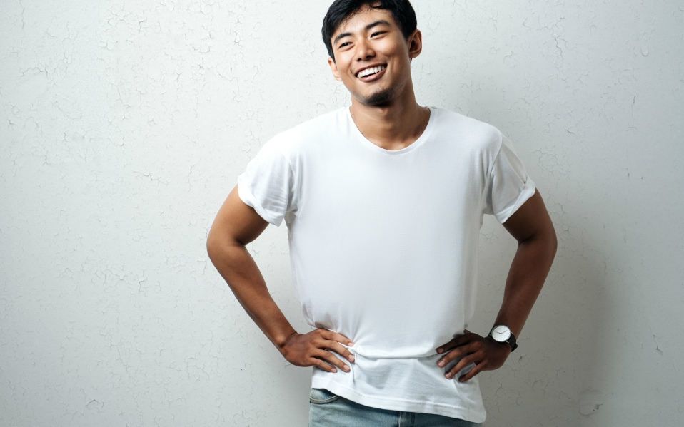 White T-Shirts for Men