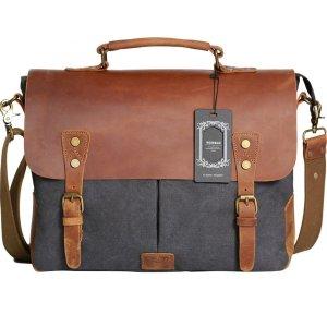 leather laptop bag wowbox messenger satchel