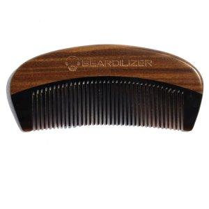 Beard Comb Horn Wood