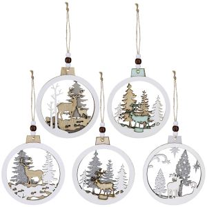 Supla Hanging Wooden Ornaments
