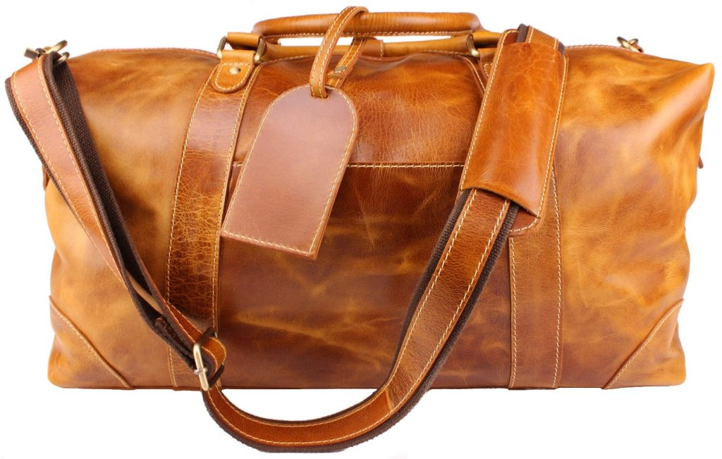 Leather Duffel Bag Carry On