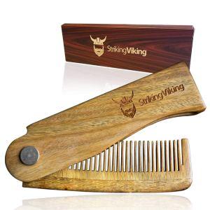 Beard Comb Wood Folding