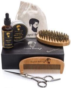 Beard Grooming Set Brush Oil