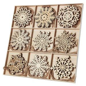 N&T Nieting Wooden Snowflake Ornaments