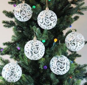 Sleetly Transparent Swirl Ball Ornaments