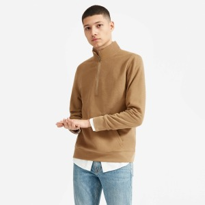 Everlane Twill Half-Zip Sweatshirt
