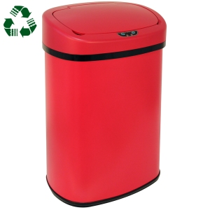 bestoffice new red touch free trash can