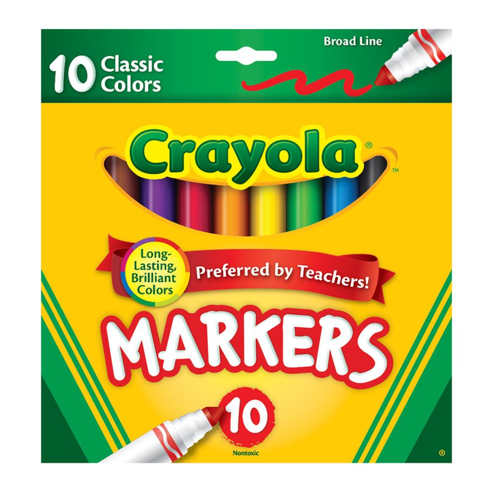 Crayola broad line art markets, back to school shopping