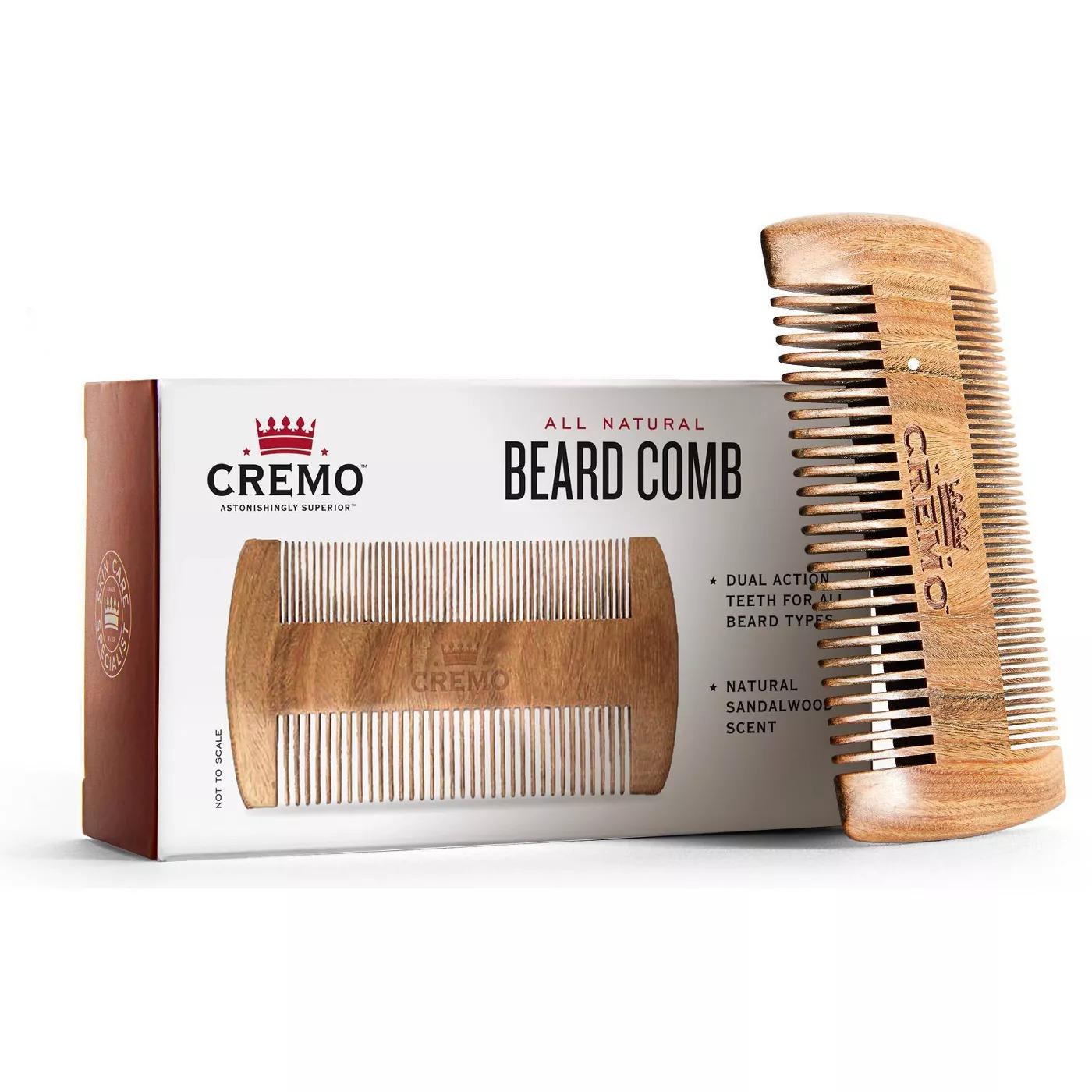 Cremo Premium Dual-Sided Sandalwood Beard Comb