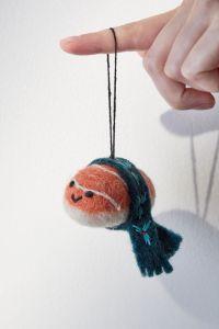 christmas tree ornaments scarved shrimp