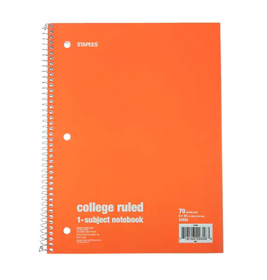 staples 1-subject notebook, back to school sales