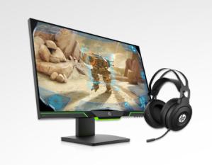HP Gaming monitor + headset bundle
