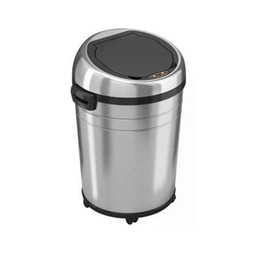 itouchless rolling sensor kitchen trash can