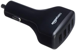 AmazonBasics 4-Port USB Car Charger