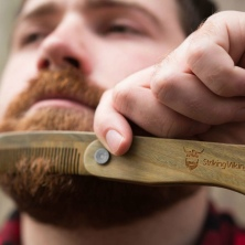 Striking Viking Folding Wooden Comb