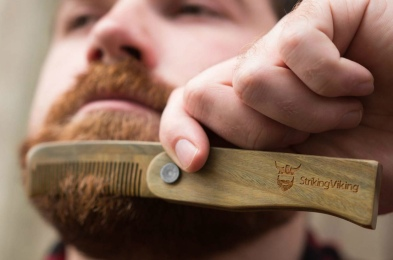 Striking Viking Folding Wooden Comb