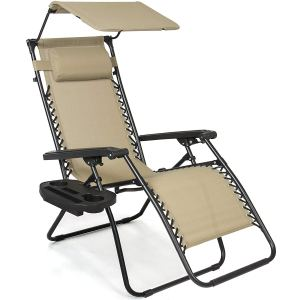 Best Choice Products Folding Zero Gravity Recliner Lounge Chair