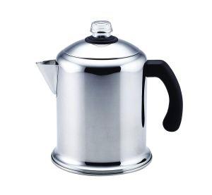the farberware coffee percolator on a white background