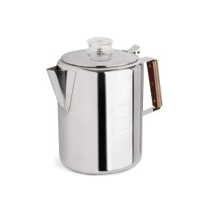 the tops rapid brew coffee percolator on a white background