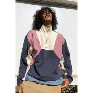 iets frans… Colorblock Mock Neck Sweatshirt