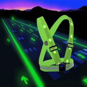 best running lights fixinus led reflective safety vest