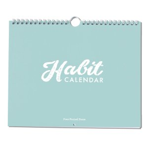 the habit calender on a white background