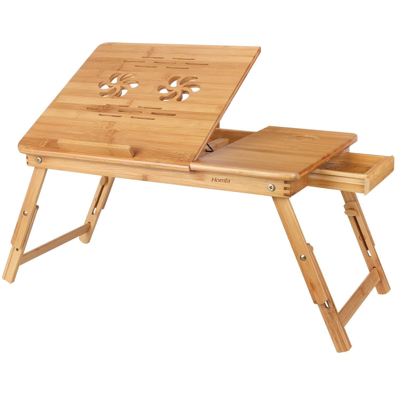bed tray table homfa bamboo