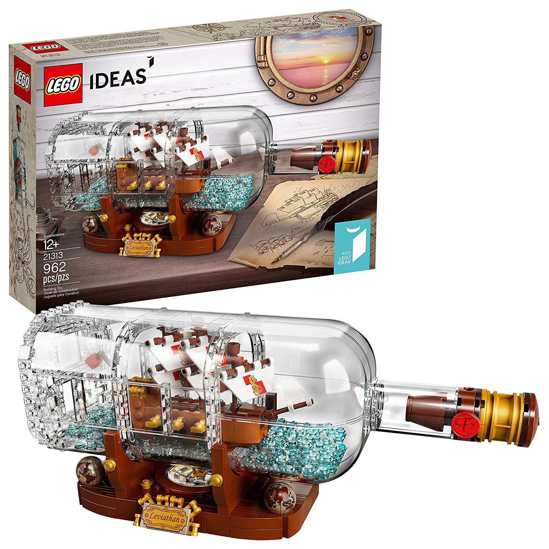 adult lego sets ship in a bottle