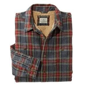 L.L.Bean Sherpa-Lined Scotch Plaid Shirt