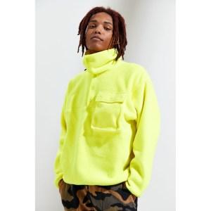 Asparagus Neon Polar Fleece Sweatshirt
