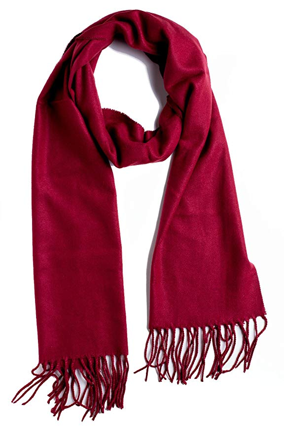 Plum feathers solid scarf