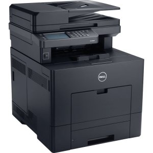 the dell color laser printer on a white background