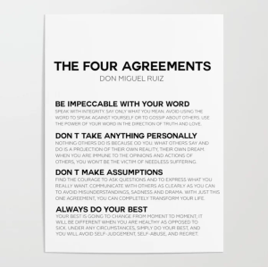 best motivational posters four agreements