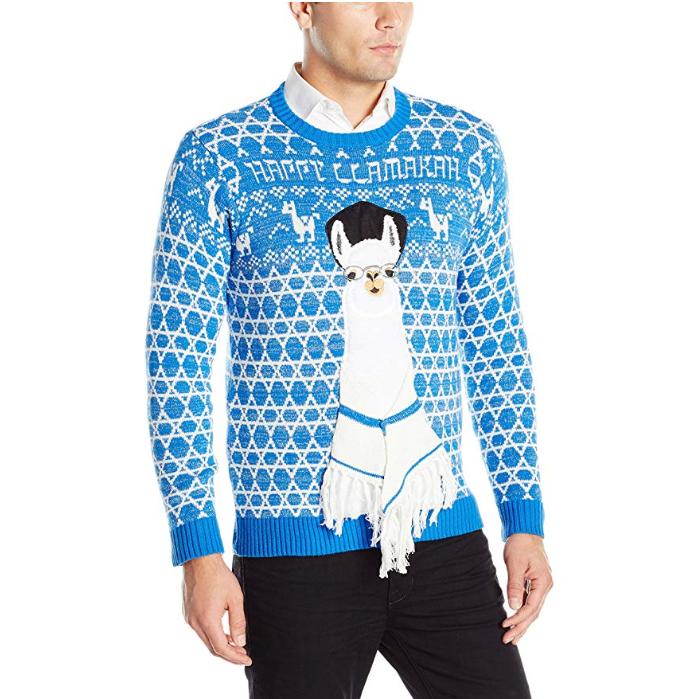 ugly hanukkah sweater llama