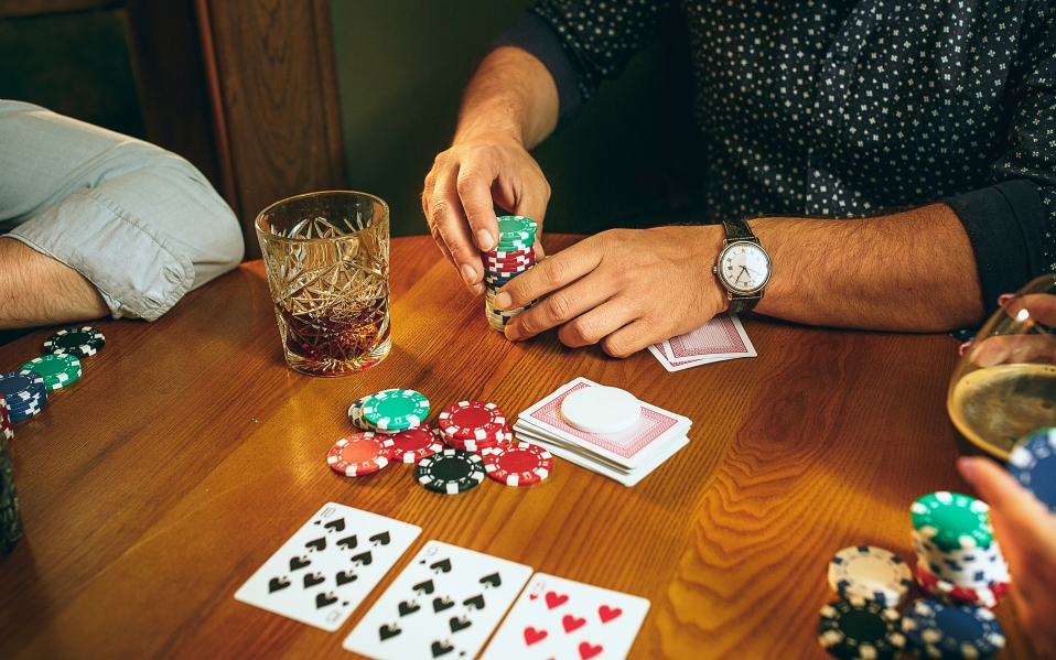 people playing card games