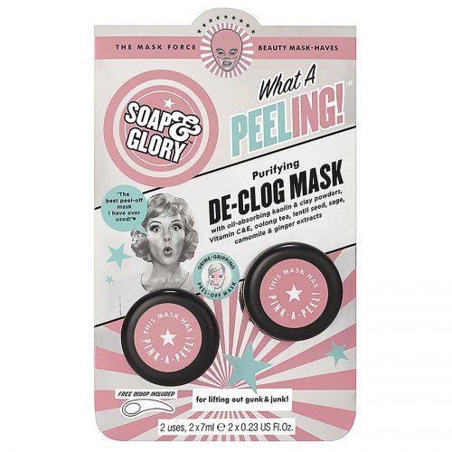 Soap & Glory Purifying De-Clog Mask- best peel off blackhead mask