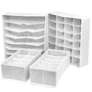 Sorbus Set of 4 Foldable Drawer Dividers