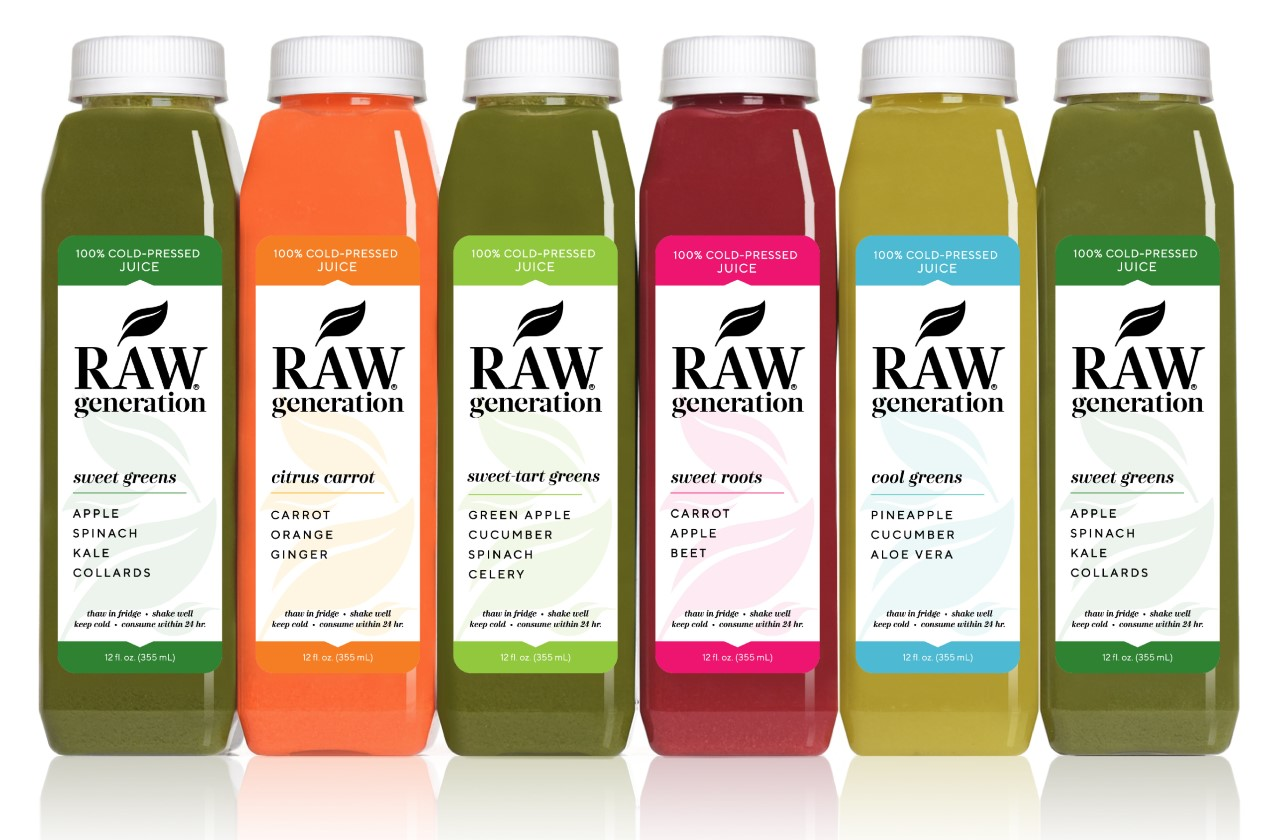 Cold Pressed Juices Raw Generation