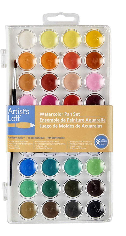 watercolor paint artist's loft