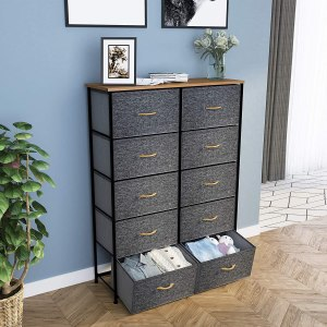10 drawer dresser unit, closet organizers