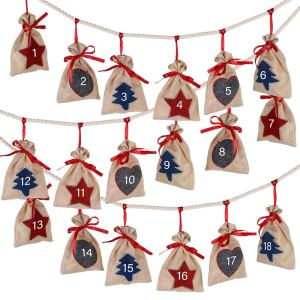 Advent Calendar Bags Decorations