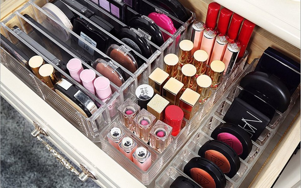 compact powder holder organizer makeup