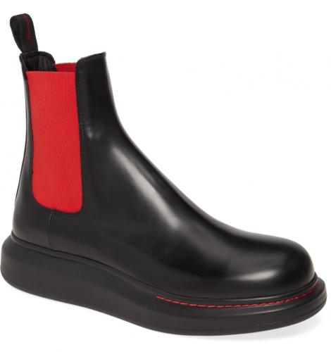 Alexander McQueen Platform Black Chelsea Boot