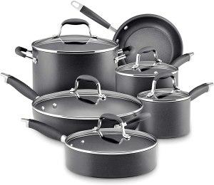 Analon advanced nonstick cookware set