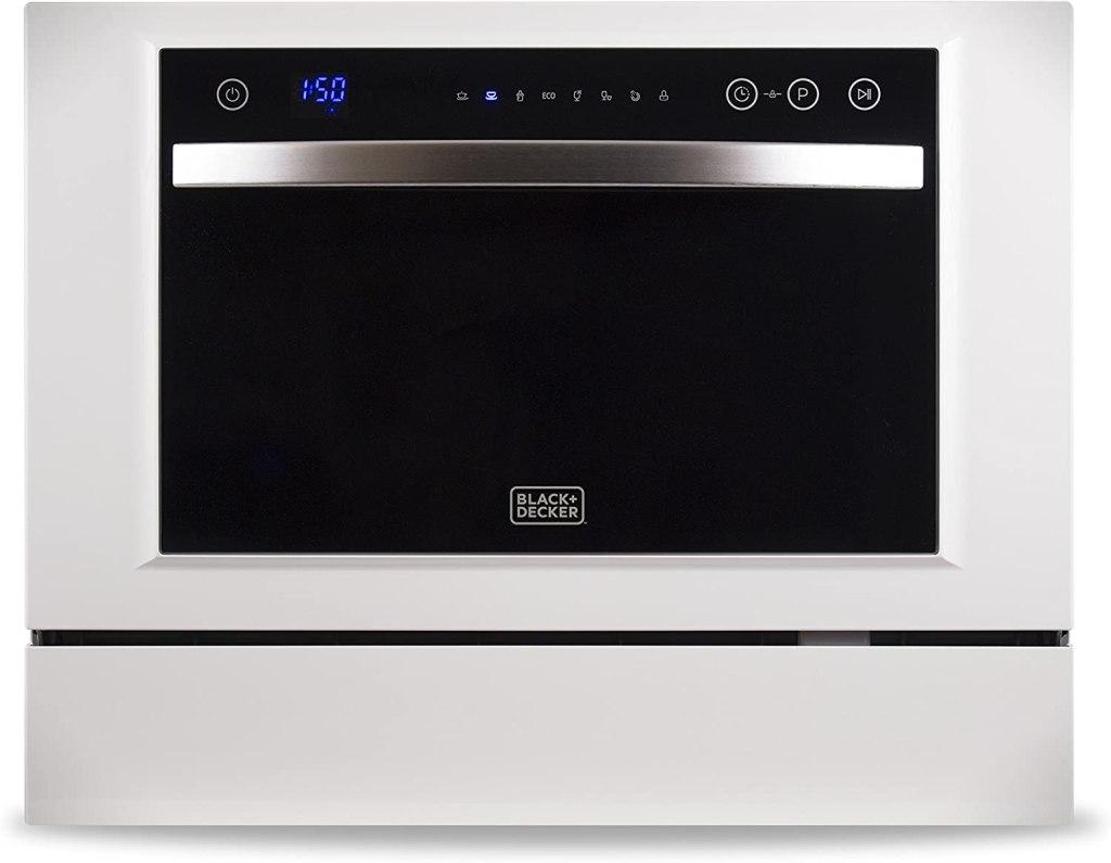 BLACK+DECKER 6 Place Setting Compact Countertop Dishwasher