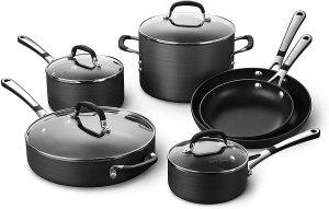 Calphalon Simply pots and pans set, best nonstick cookware set